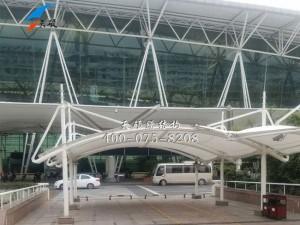 河南郑州高铁站膜结构通道