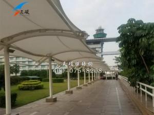 广西南宁铂尔曼酒店膜结构通道