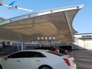 山东滨州农资商产公司膜结构停车棚