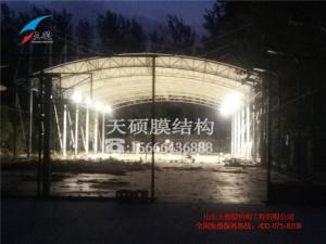 江苏南京长江委水文局室外运动场全覆盖膜结构PTFE膜