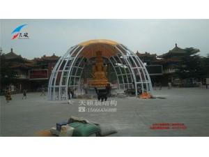 烟台南山观音膜结构遮阳棚