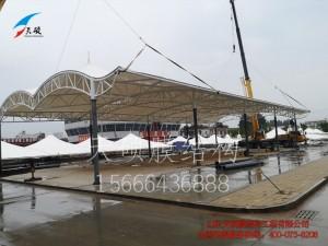 河北景县农贸市场膜结构遮阳棚